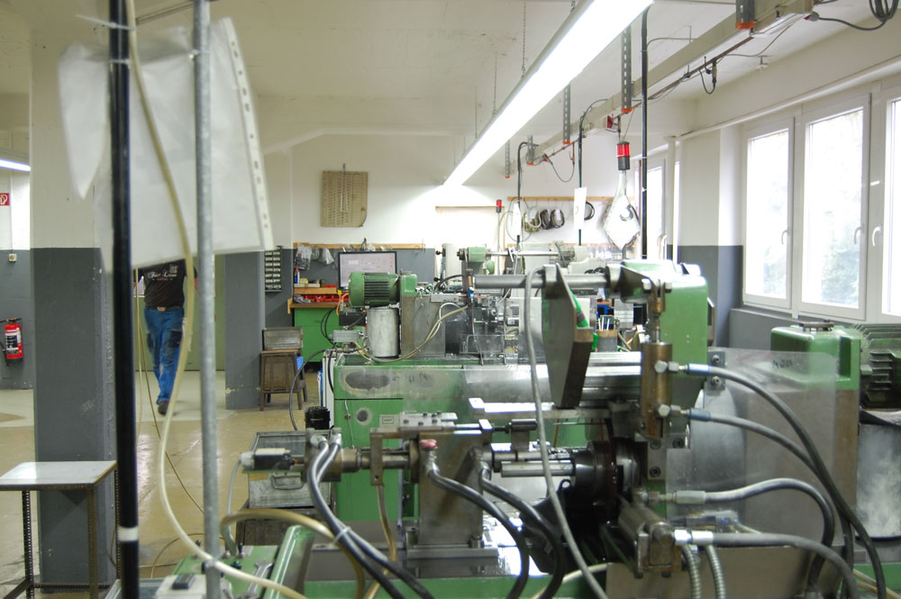 Werksbesichtigung bei addi - Produktionshalle