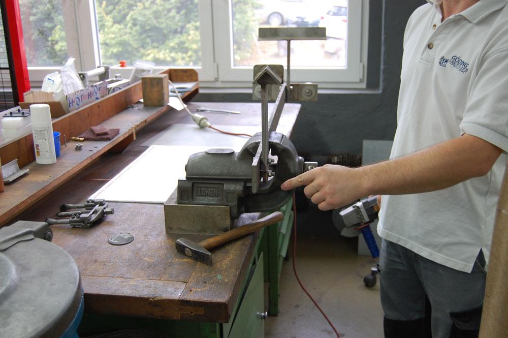 Werksbesichtigung bei addi - In Werkstatt werden neue Maschinen konzipiert