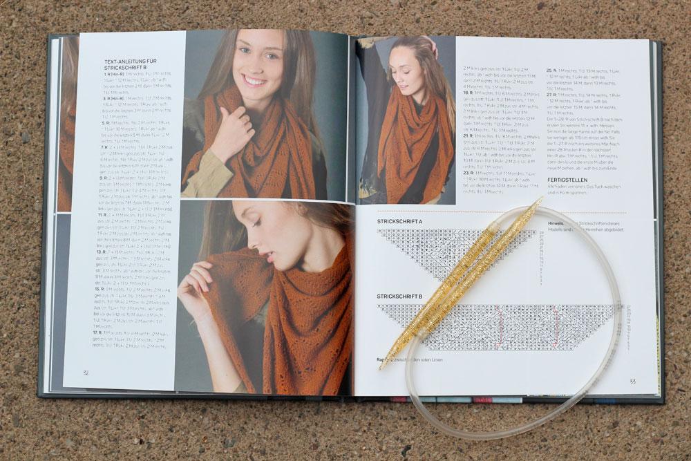 Tücher stricken - mit Strickschrift tücher stricken Buchbesprechung: Tücher stricken von Marisa Nöldeke