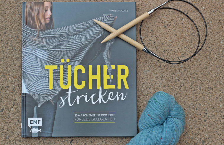 Tücher stricken - Titelbild tücher stricken Buchbesprechung: Tücher stricken von Marisa Nöldeke