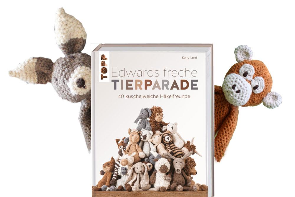 Das Handarbeitsbuch - 12 Buchempfehlungen - Edwards freche Tierparade handarbeitsbücher Das Handarbeitsbuch – 12 Buchempfehlungen