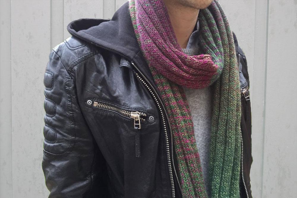 Geschenke stricken - Männerschal