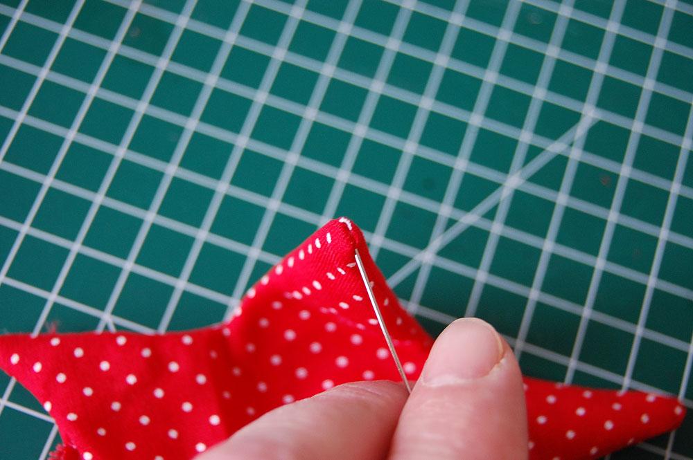 Weihnachtssterne nähen - Stern wenden Tutorial: Christmas star sewing pattern