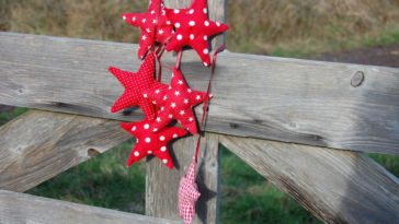 Tutorial: Christmas star sewing pattern