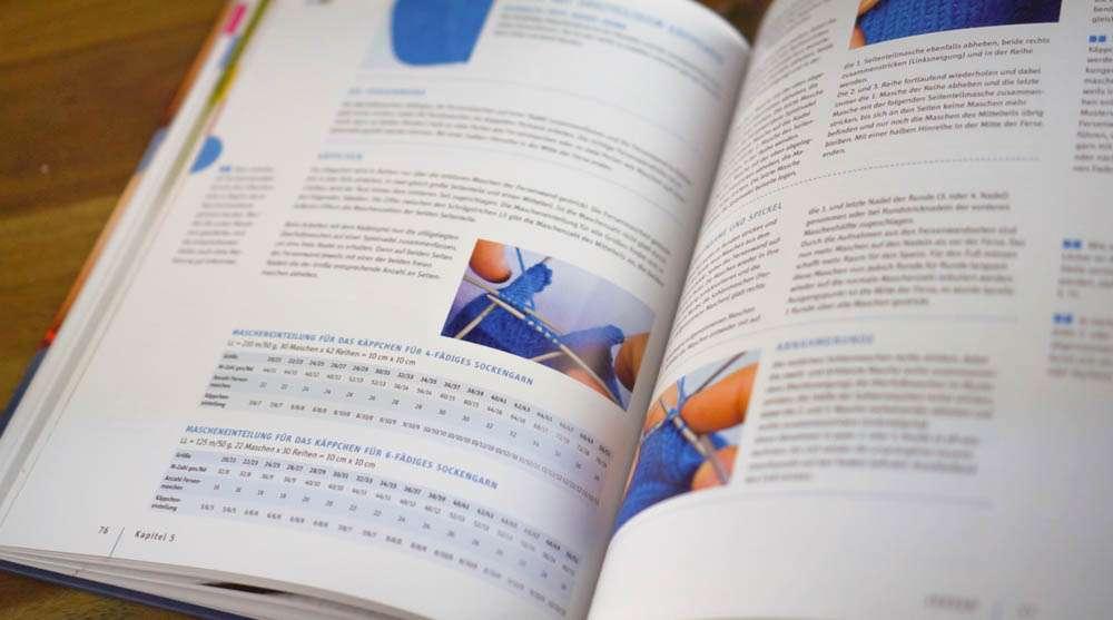 Farbliche Kennzeichnung auch in der Wolle der geniale sockenworkshop Buchbesprechung: Der geniale SockenWorkshop