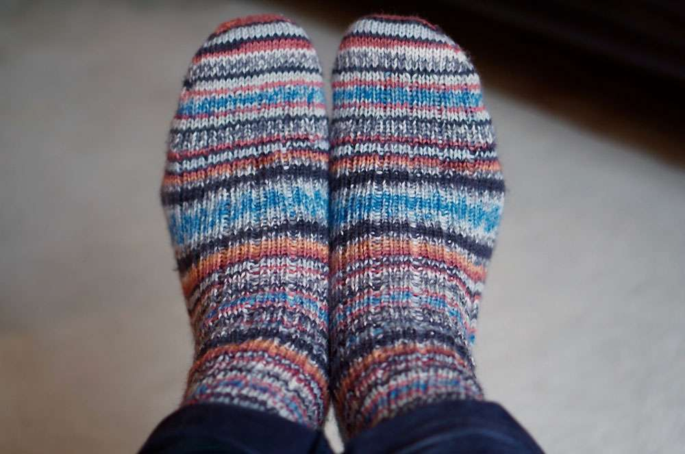 Toe Up Socken