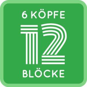 6 Köpfe 12 Blöcke - Logo 6 köpfe 12 blöcke 6 Köpfe 12 Blöcke Quilt Along 2017 – ein Interview mit den Organisatoren