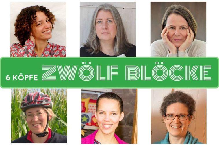 6 Köpfe – zwölf Blöcke - Titelbild 6 köpfe 12 blöcke 6 Köpfe 12 Blöcke Quilt Along 2017 – ein Interview mit den Organisatoren