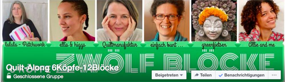 6 Köpfe - zwölf Blöcke - Facebook Foto quilt along Teilnahme am Quilt-Along 6 Köpfe – 12 Blöcke – Anmeldung und Material