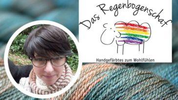Das Regenbogenschaft - Titelbild Färberin Maike Schnichels – Das Regenbogenschaf im Interview