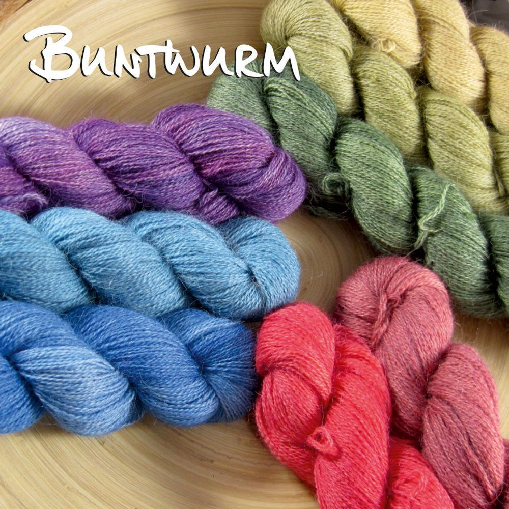 Nicole Seelbach - Buntwurm - Alpaka Lace Nicole Seelbach färbt hochwertige Buntwurm Garne