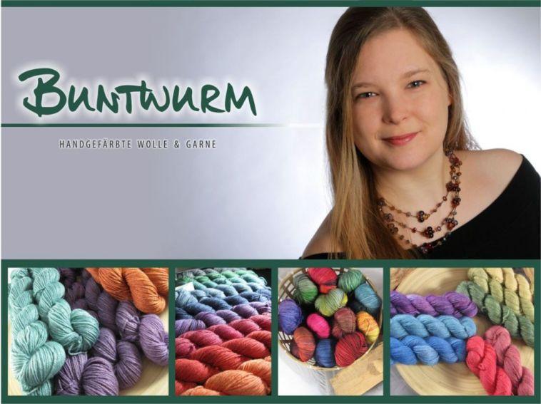 Nicole Seelbach - Buntwurm - Titelbild Nicole Seelbach färbt hochwertige Buntwurm Garne