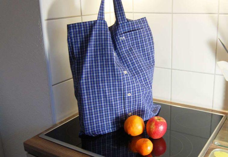 Upcycling: Tasche aus Hemd nähen | sockshype.com