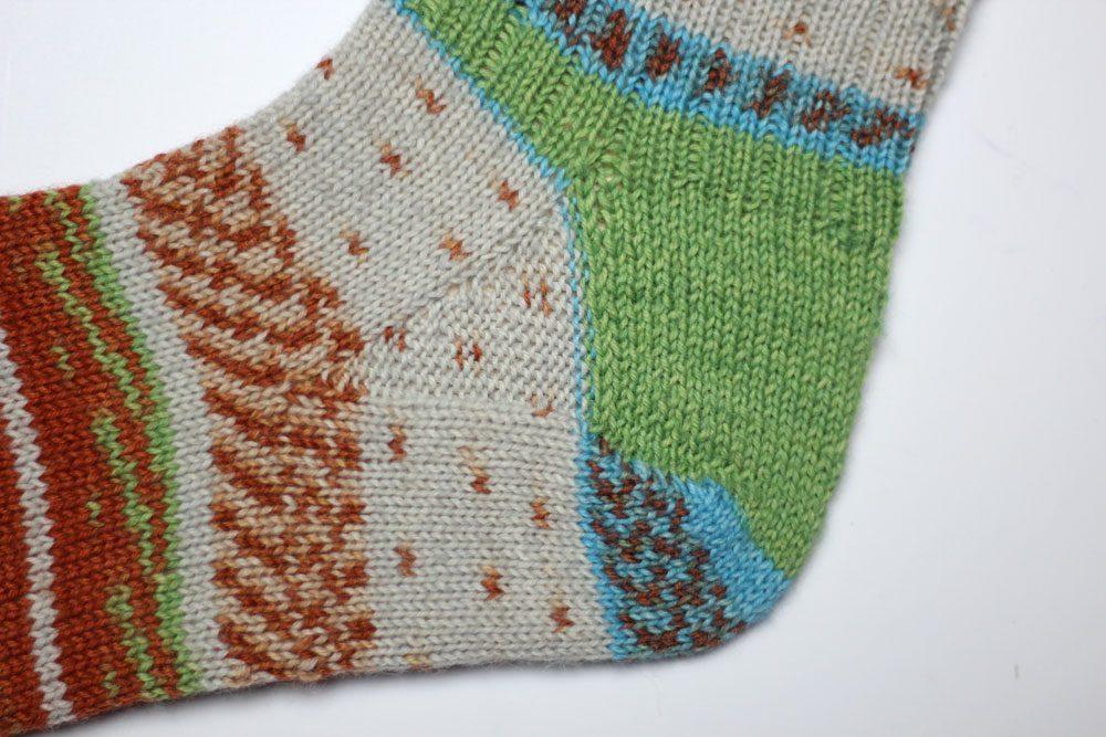 Toe Up Socken - Sockenwunder - Spickel