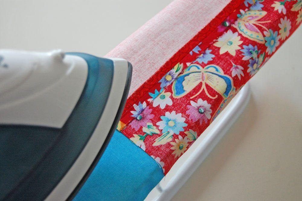 Tasche für das Nadelspiel _ Naht bügeln