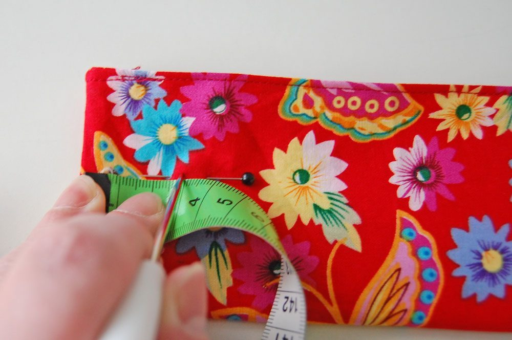 Tasche für Nadelspiel - Löcher für Druckknöpfe