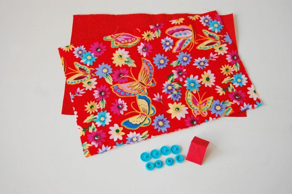Tasche für das Nadelspiel - Material