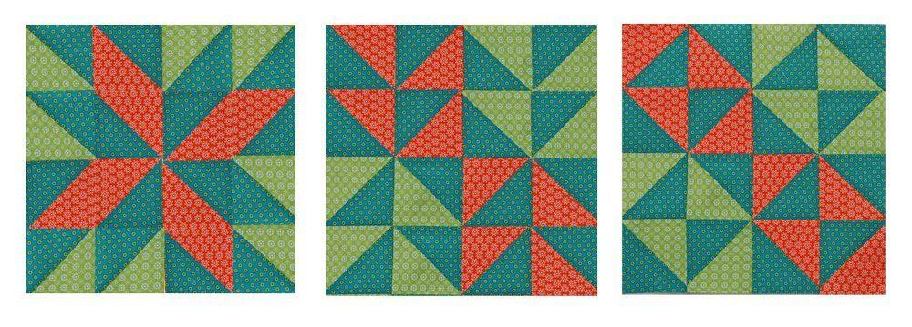6 Tage - zwölf Köpfe - Märzblock - Brocken Dishes Block Quilt-Along 6 Köpfe – zwölf Blöcke der Märzblock: Broken Dishes Block