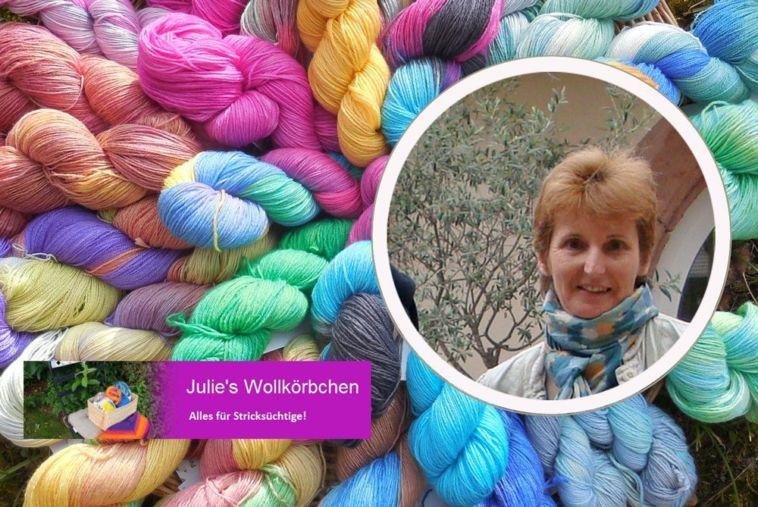 Julie's Wollkörbchen - Julitta Bolender - Interview - Titelbild Färberin Julitta Bolender – Julies Wollkörbchen – im Interview
