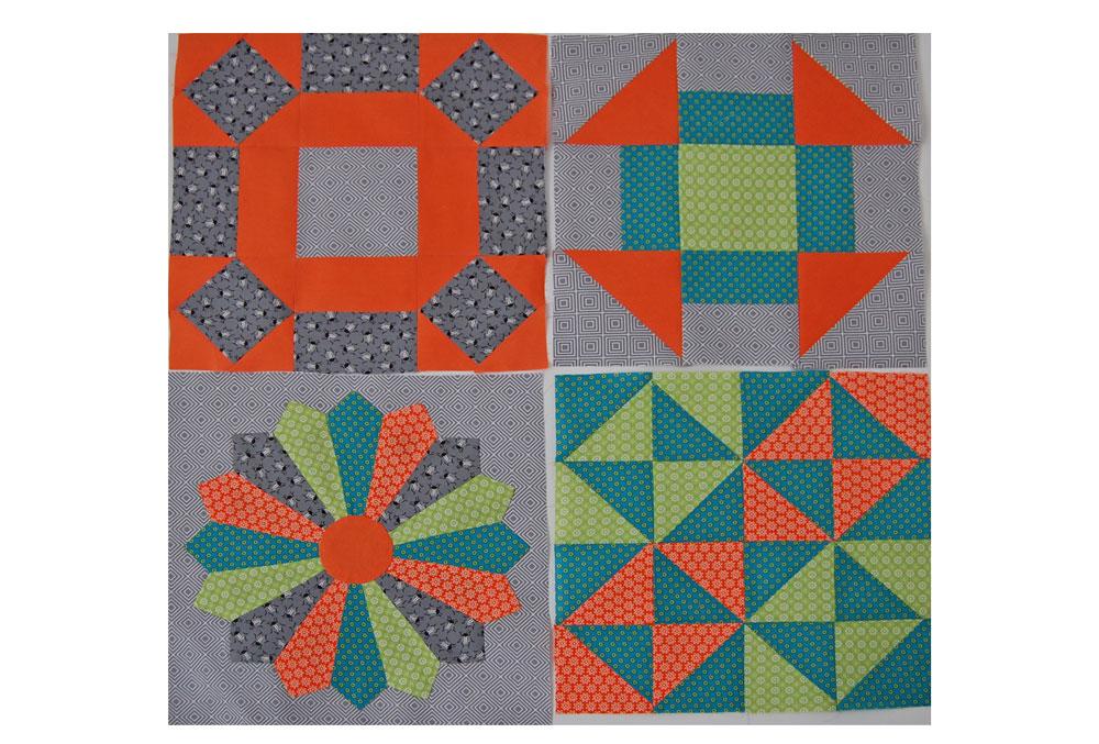 6 Köpfe - zwölf Blöcke Der Aprilblock - Dresden Plate