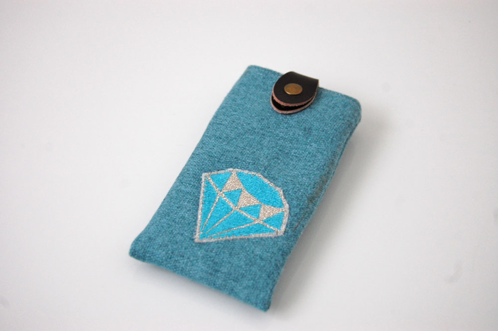 Smartphone-Tasche nähen - Anleitung: Smartphone-Tasche nähen mit Ausziehhilfe