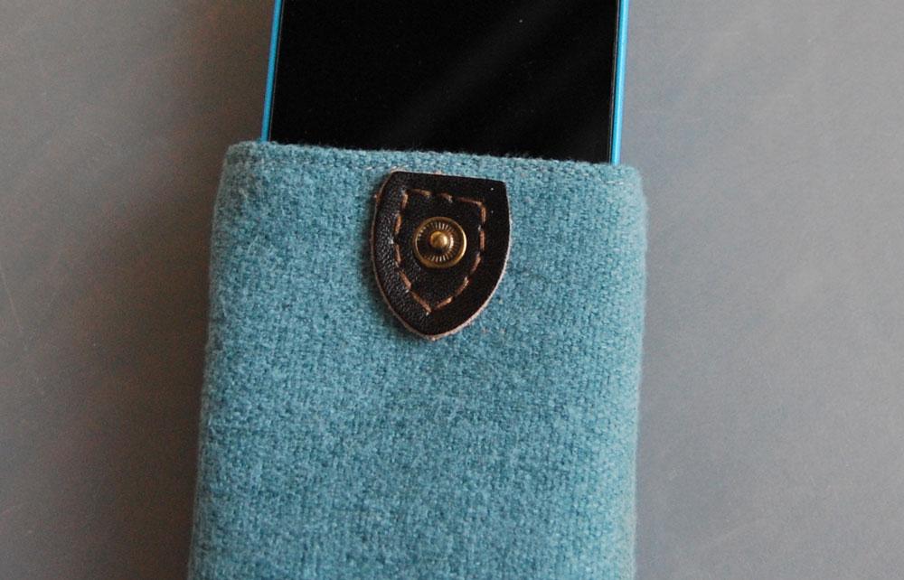 Smartphone-Tasche nähen - Verschluss Anleitung: Smartphone-Tasche nähen mit Ausziehhilfe