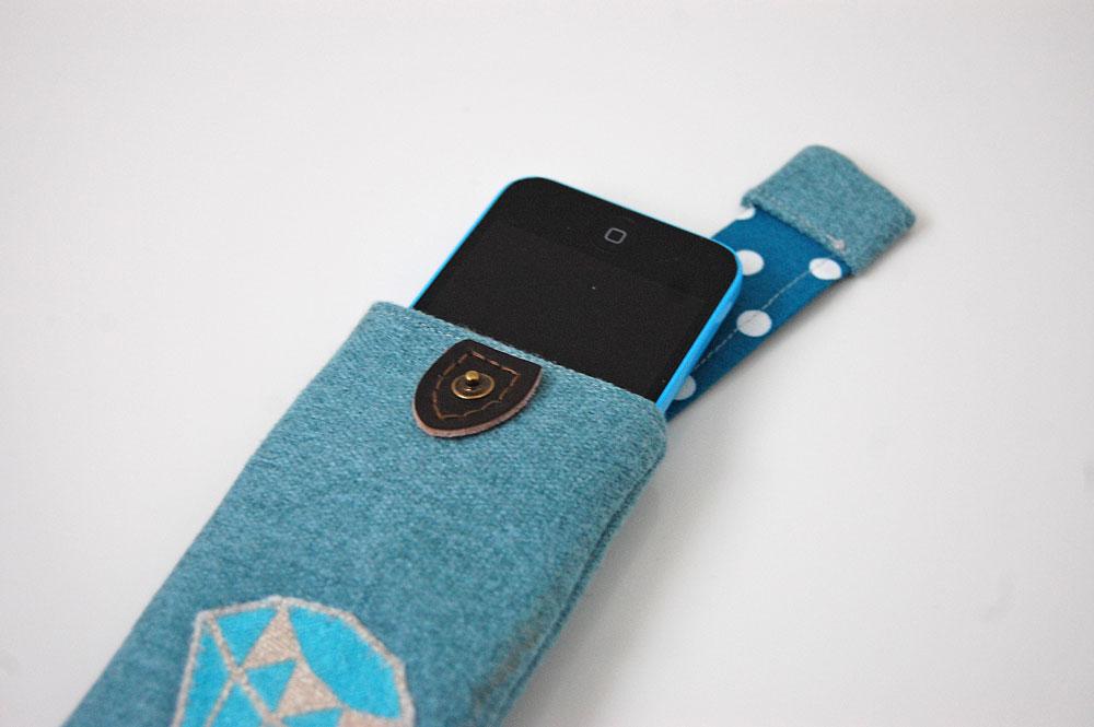 Smartphone-Tasche nähen Anleitung: Smartphone-Tasche nähen mit Ausziehhilfe