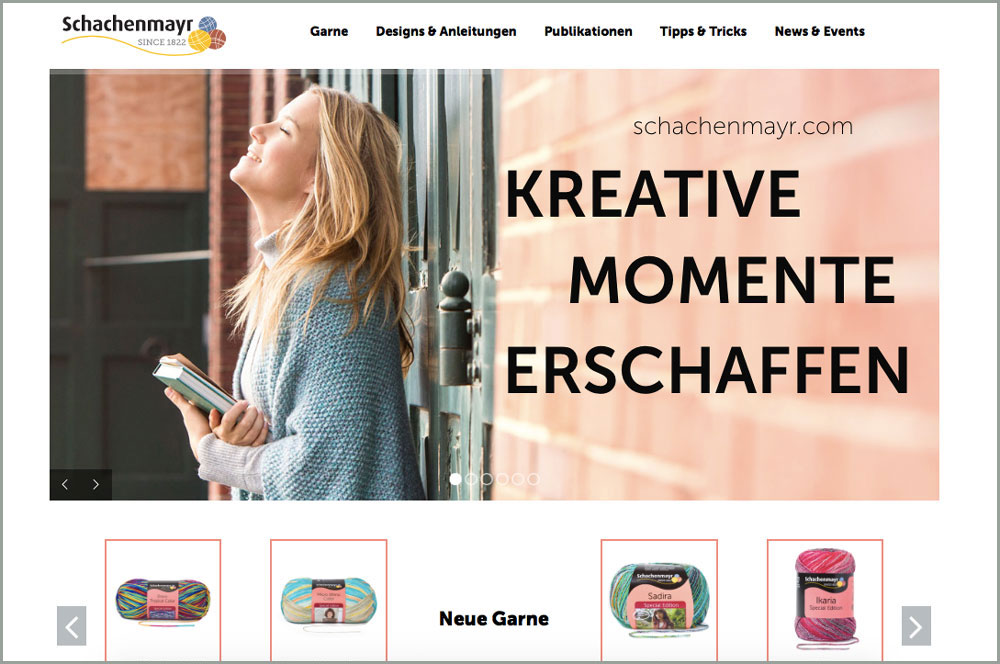 Schachenmayr Internetseite Sabine Mader im Interview über die Neuheiten der Schachenmayr-Webseite