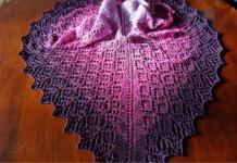 Monika Theile - Monis Farbenwahn - Tuch Lavendelreigen