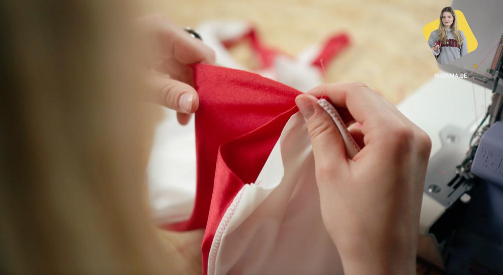 Badeanzug selber nähen: Schritt zusammen nähen badeanzug selber nähen Anleitung: Badeanzug selber nähen (Schnittmuster zum Herunterladen)