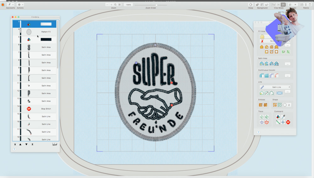 Embroidery software TruEmbroidery for digitizing / create embroidery designs
