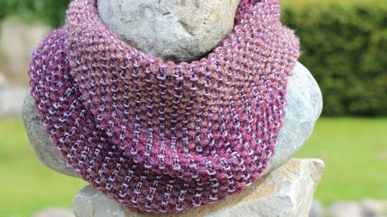 Loop stricken - mix&knit - Titelbild loop mit hebemaschen Dekorativer Loop mit Hebemaschen stricken – Anleitung