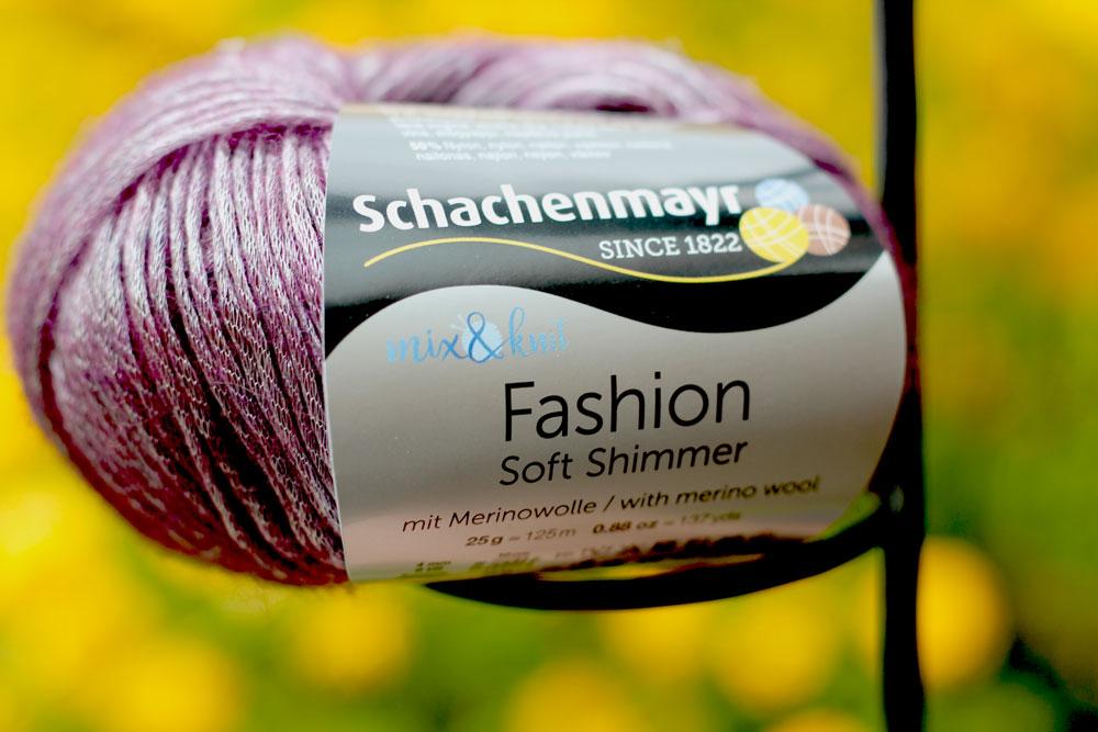 Loop mit Hebemaschen stricken - mix&knit - Soft Shimmer