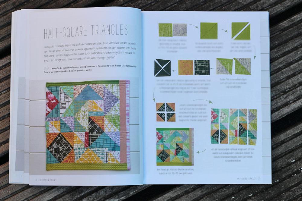 Quilten-mit-Pep - Halfsquare Triangles quilten mit pep Quilten mit Pep von Lucie Summers – Buchbesprechung