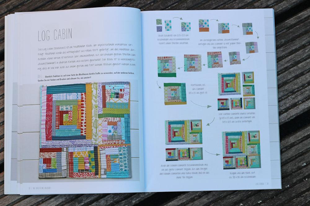 Quilten-mit-Pep - Log Cabin quilten mit pep Quilten mit Pep von Lucie Summers – Buchbesprechung