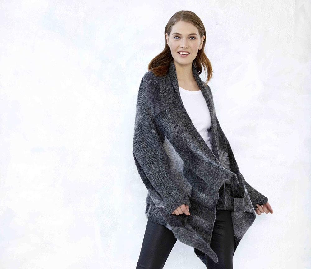 mix&knit-along - Peaceful Cardigan von vorne