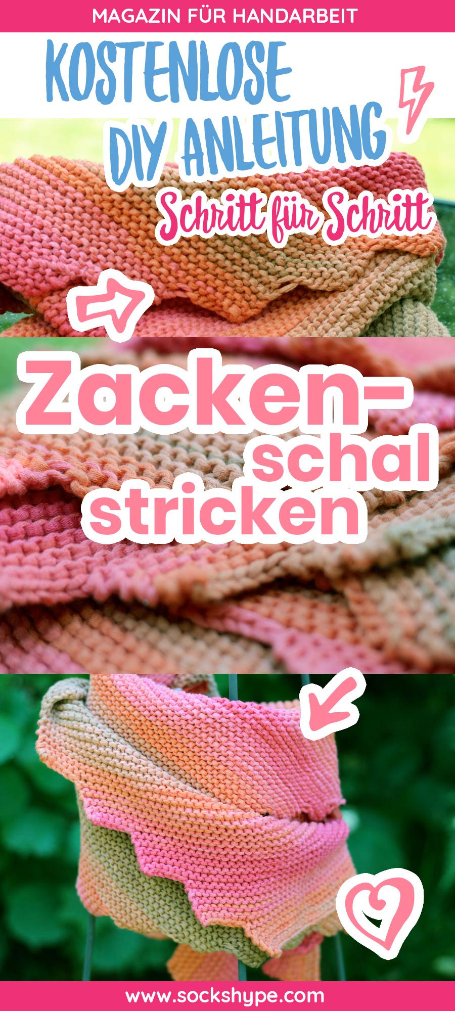 Zackenschal Stricken Aus Bändchengarn Sol Dégradé Von Lang Yarns