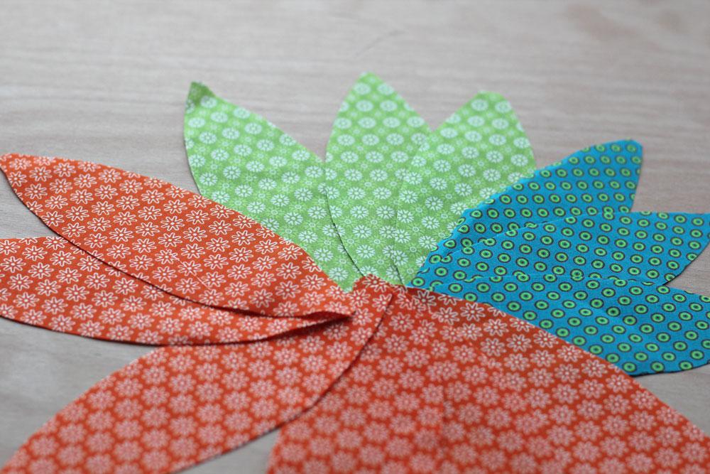 6 Köpfe 12 Blöcke - Die Blätter sind zugeschnitten