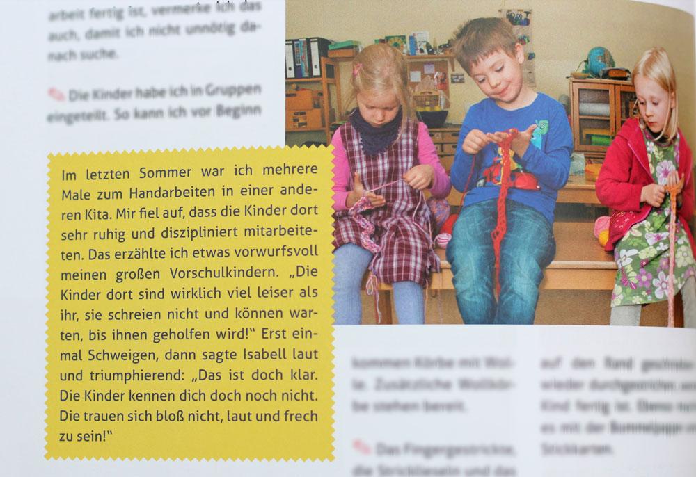 Handarbeitsspaß mit Kindern - Kinder konzentriert bei der Handarbeit - außerdem Episode aus dem Kindergartenalltag