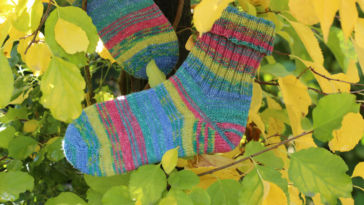 Shadow-Wrap-Ferse - Titelbild shadow-wrap-ferse Socken stricken mit der Shadow-Wrap-Ferse im CraSy-Style