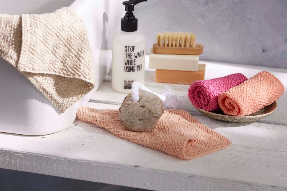Geschenke stricken-Tanja Steinbach - selbstgestrickte Waschlappen