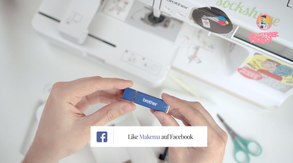 Umfangreiches Nähzubehör: Die Nähmaschine für Anfänger kommt sogar mit USB-Stick von Brother.