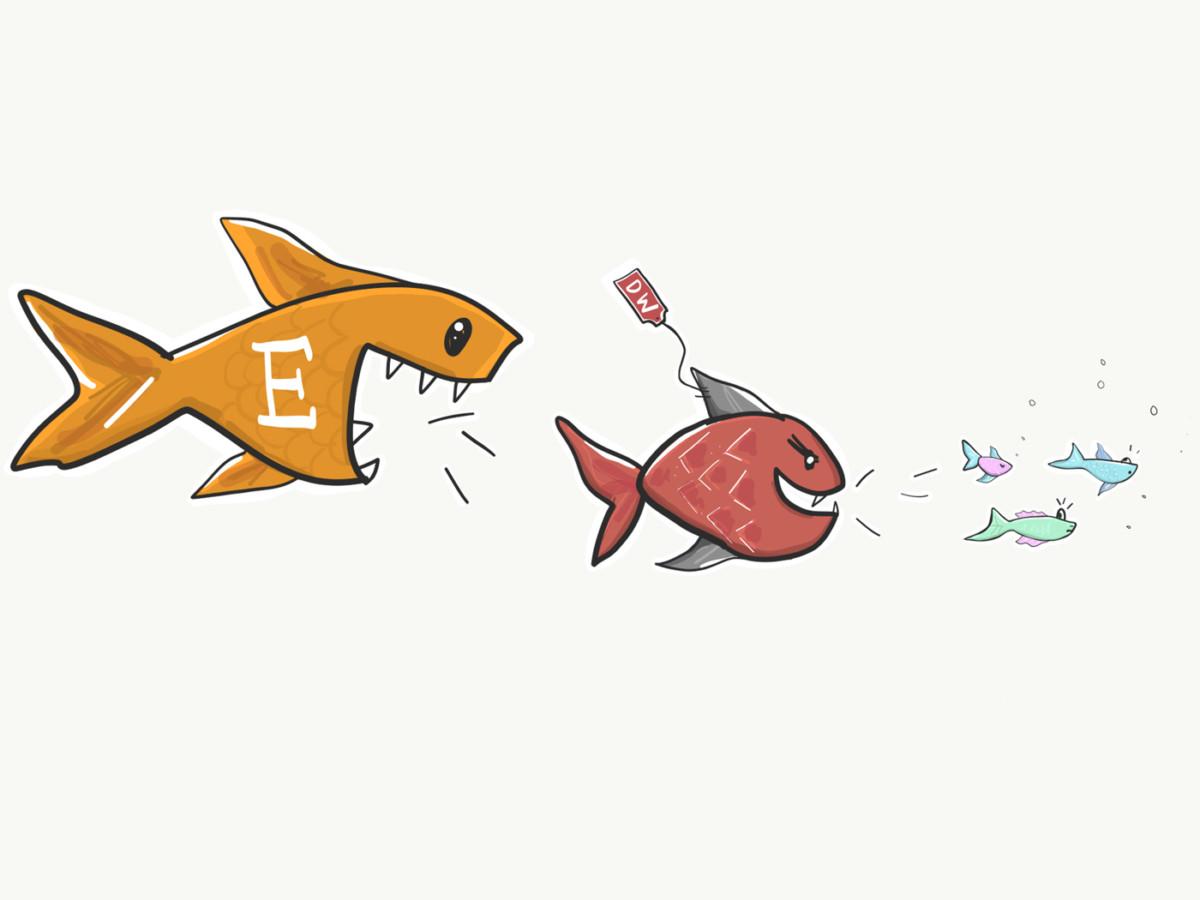 Das Haifischbecken: Plattformen wie Dawanda, Etsy & Co kämpfen um die Macht. alternativen zu dawanda Die 5 besten Alternativen zu Dawanda, Etsy, Makerist und Palundu