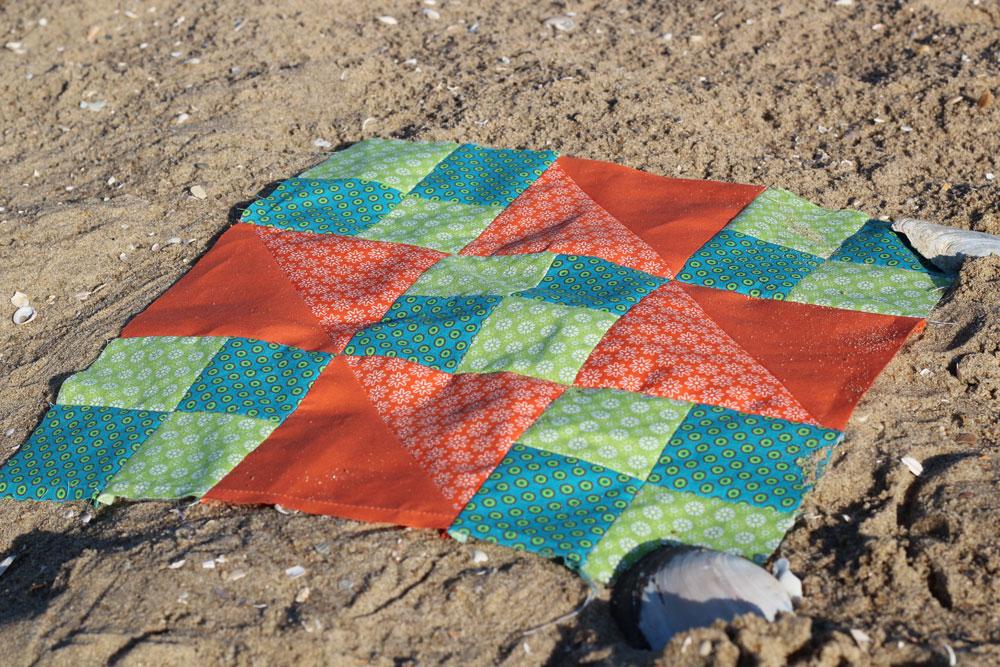 6 Köpfe 12 Blöcke - Die Jacobsladder am Strand
