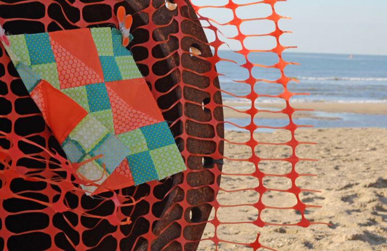 6 Köpfe 12 Blöcke - Die Jacobsladder am Strand von Texel