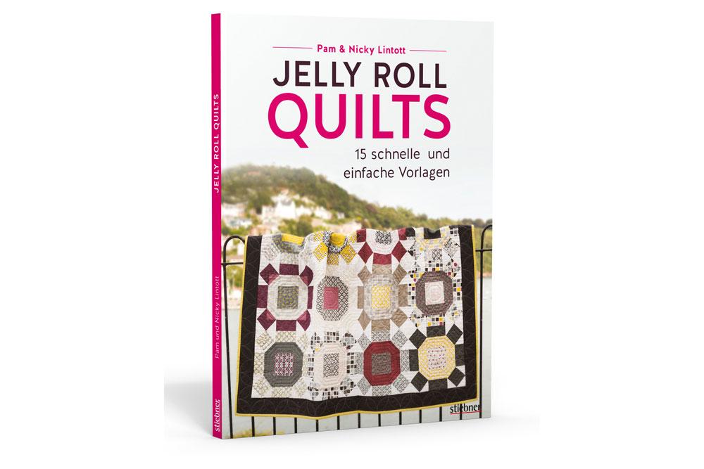 Jelly Roll Quilts - Buchbesprechung und Verlosung - Titelbild