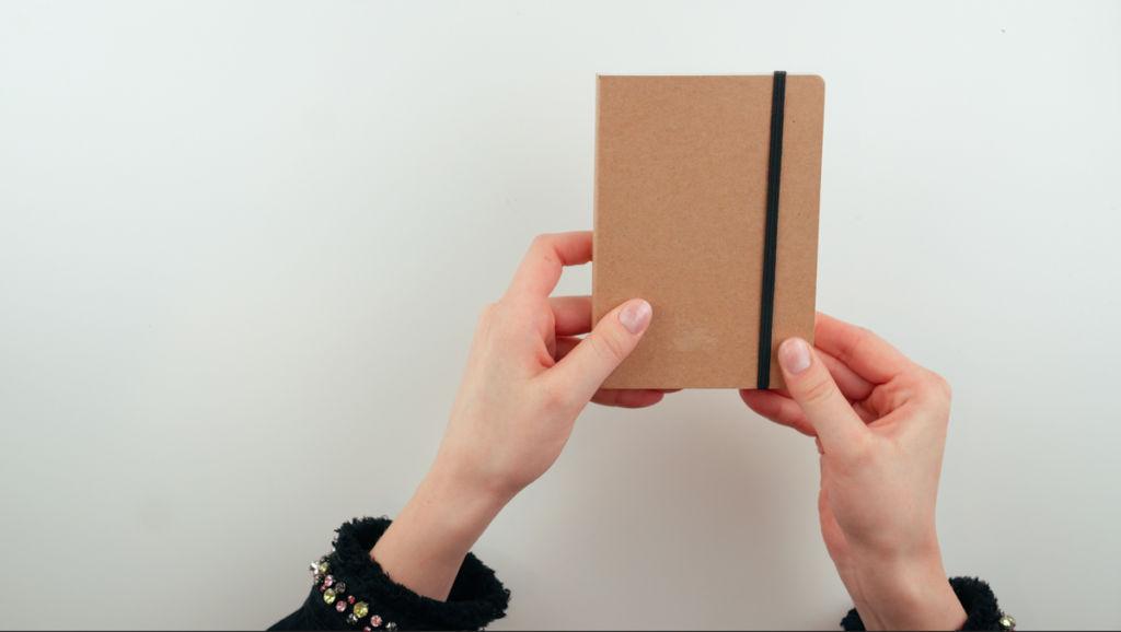 Notizbuch gestalten mit Dekopapier