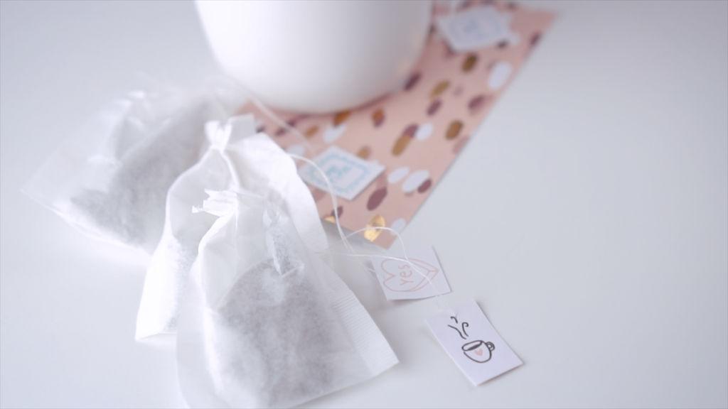 Teebeutel, ein selber gemachtes Geschenk. teebeutel selber machen Teebeutel selber machen