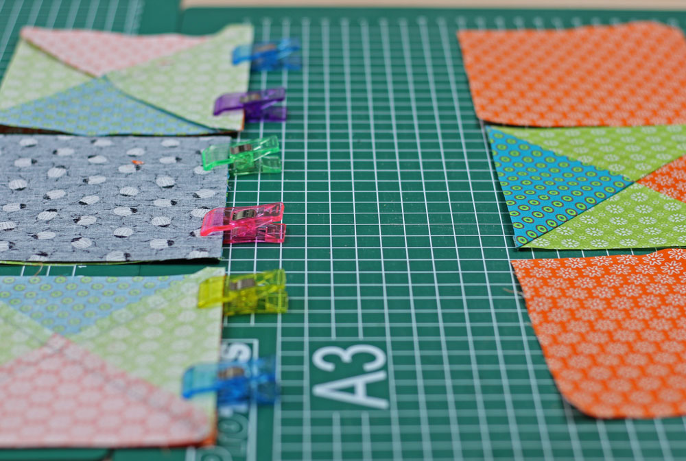 6 Köpfe 12 Blöcke - Zusammennähen der Einzelblöcke