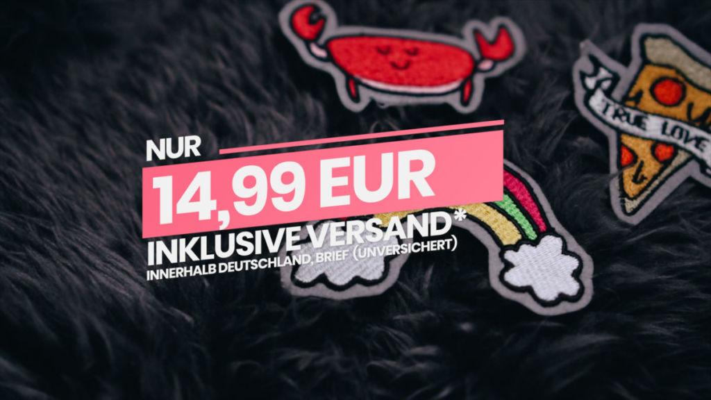"""14,99 EUR kostet das Set. Mit dem Rabattcode""""ALLE3ZUSAMMEN"""" wird es günstiger [object object] Stickdateien als Patches"""